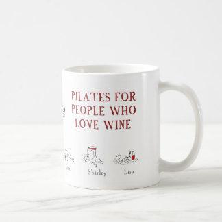 "Pilates for people who love wine ""Harold's Planet"" Classic White Coffee Mug"