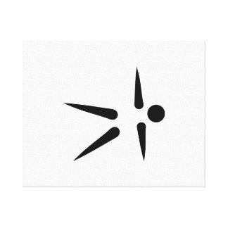 Pilates icon canvas print