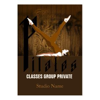 Pilates II - Negocio, tarjeta del horario Tarjetas De Visita Grandes