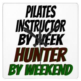 Pilates Instructor Hunter Square Wall Clock