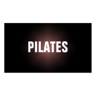 PILATES Instructor Simple & Plain Business Card Standard Business Cards