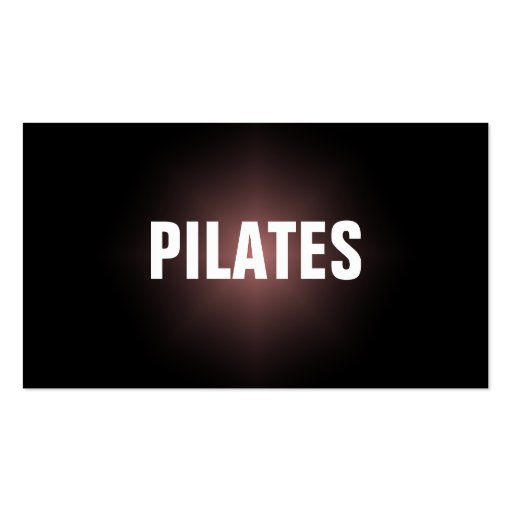 PILATES Instructor Simple & Plain Business Card