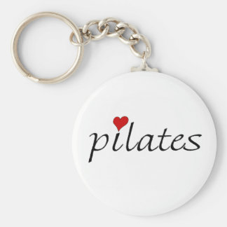 Pilates Keyring Basic Round Button Keychain