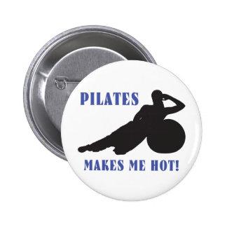 Pilates me hace caliente pin redondo 5 cm