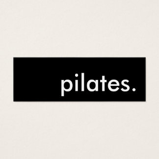 pilates. mini business card