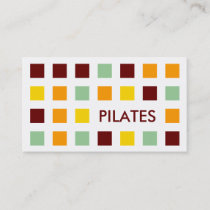 PILATES (mod squares) Business Card