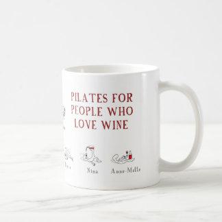 pilates classic white coffee mug