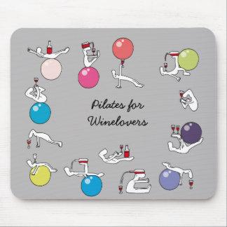 Pilates para el mousemat de los amantes del vino,  alfombrilla de ratones