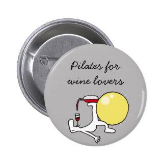 Pilates para la insignia del gris de Winelovers Pin