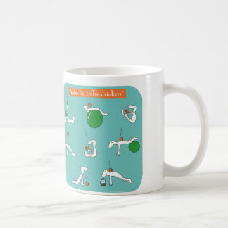 pilates para los bebedores del café taza
