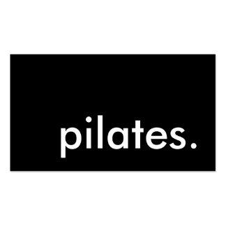 pilates. (personalizable del color) plantilla de tarjeta personal