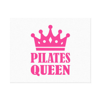 Pilates queen crown canvas print