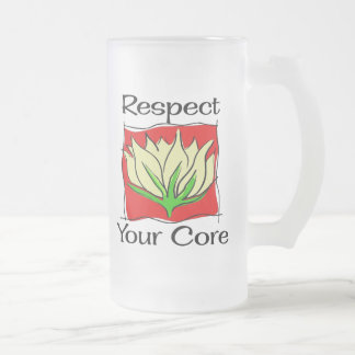 Pilates Respect Your Core Frosted Glass Beer Mug