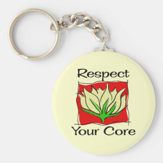 Pilates Respect Your Core Key Chain