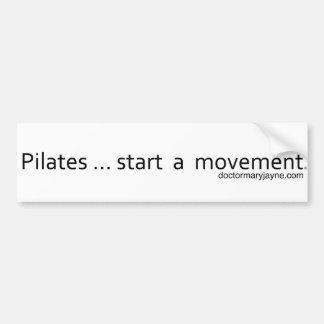 Pilates...start a movement Bumpersticker Car Bumper Sticker