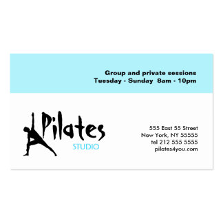 Pilates Studio Business Card White Blue
