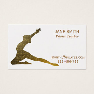 Pilates Teacher Pilates Instructor stylish Business Card