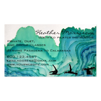 Pilates Watercolor Business Card