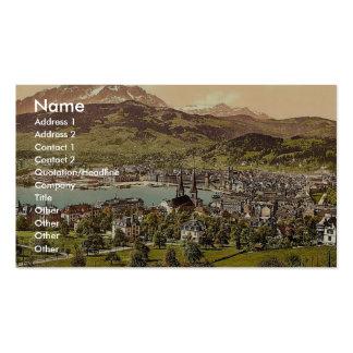 Pilatus and Lucerne, seen from Drei Linden, Lucern Business Card Template