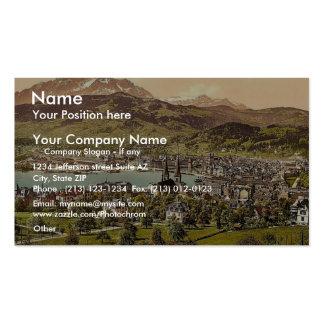 Pilatus and Lucerne, seen from Drei Linden, Lucern Business Card