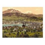Pilatus and Lucerne, seen from Drei Linden, Lucern Post Card