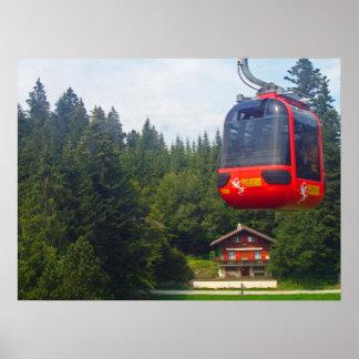 Pilatus Mountain aerial cableways  Print