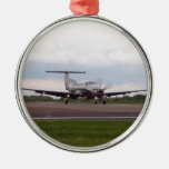 Pilatus PC 12 Round Metal Christmas Ornament