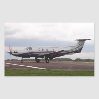 Pilatus PC 12 SP-NWM Rectangular Sticker