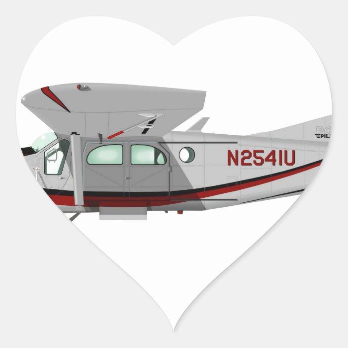 Pilatus PC-6 Turbo Porter Heart Sticker