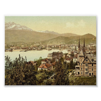 Pilatus y Alfalfa vistos de Neuschweizerhaus L Posters