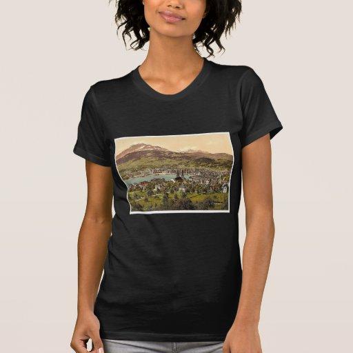 Pilatus y Alfalfa, vistos del tilo de Drei, Lucern Camisetas