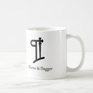 Pilcrow y taza de café de la daga