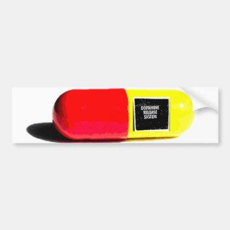 píldora del rlease de la dopamina pegatina de parachoque