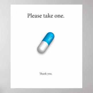 Píldora desapasible póster