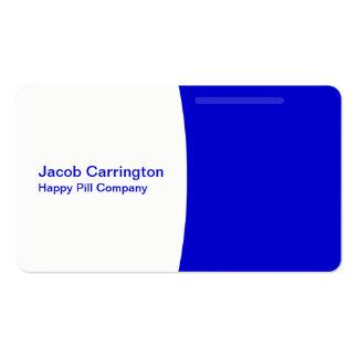 Píldora formada (azul) tarjetas de visita