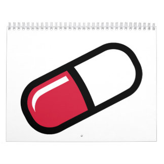 Píldora roja calendarios de pared