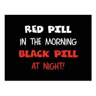 Píldora roja del negro de la píldora postal