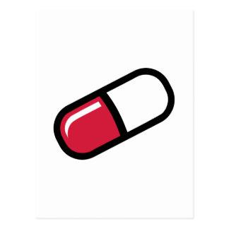 Píldora roja tarjeta postal