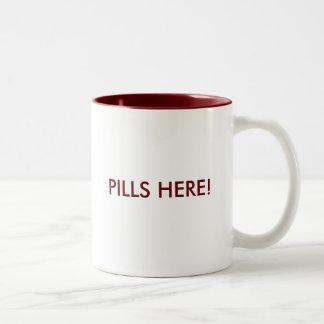 ¡Píldoras aquí! Taza Dos Tonos
