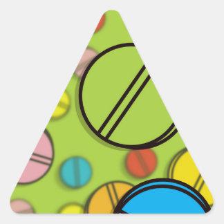 Píldoras brillantes pegatina triangular