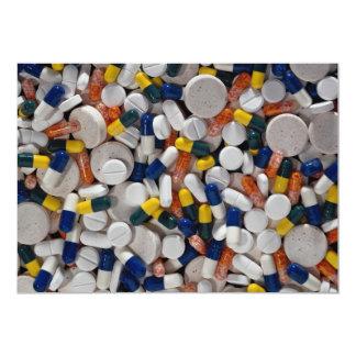 Píldoras coloridas invitación