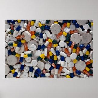 Píldoras coloridas póster