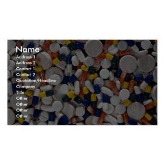 Píldoras coloridas tarjetas de visita