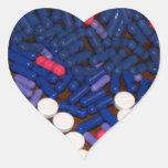 Píldoras de dolor calcomanía corazón personalizadas