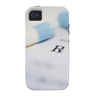 Píldoras en la prescripción escrita vibe iPhone 4 carcasa