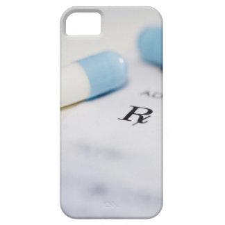 Píldoras en la prescripción escrita iPhone 5 funda