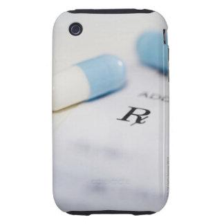 Píldoras en la prescripción escrita iPhone 3 tough protector
