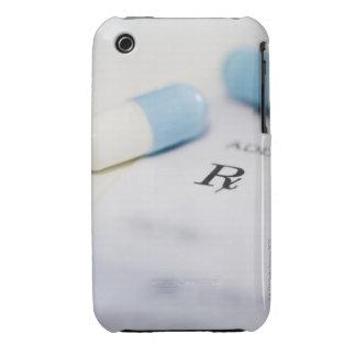Píldoras en la prescripción escrita iPhone 3 Case-Mate protectores