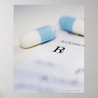 Píldoras en la prescripción escrita posters