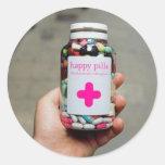 Píldoras felices etiquetas